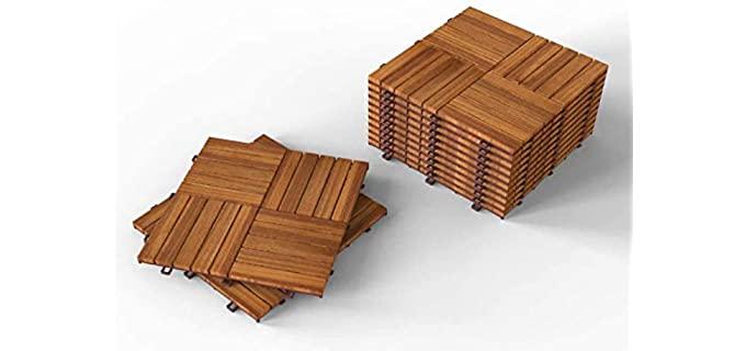 Acacia Hardwood Deck Tiles